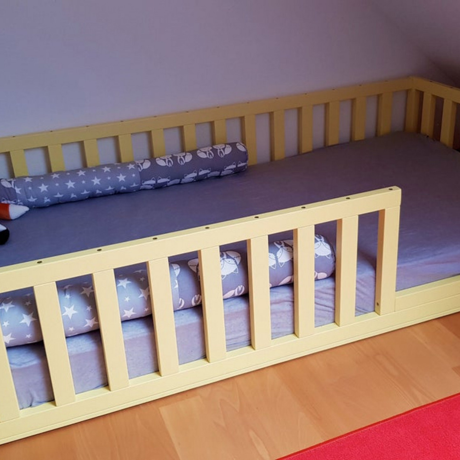 Picture of: Painted Toddler Bed Nursery Crib Childrens Beds Kids Beds Wood Bed Montessori Bed Kids Bedroom Floor Bed Homefordreams