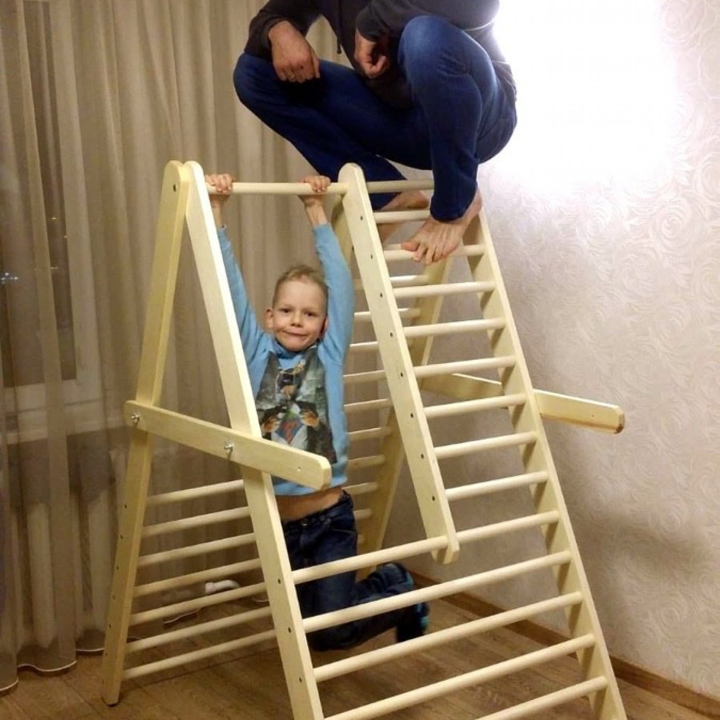 A climbing ladder suitable for toddlers and children up to 8 years of age